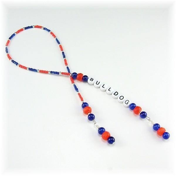 Bulldog Beaded Bookmark