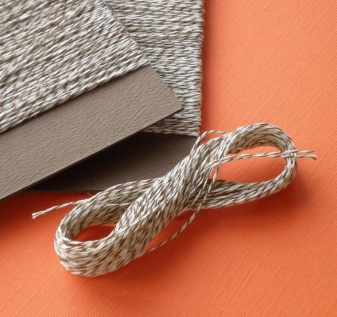 bakery twine / brown and white / over 100 feet