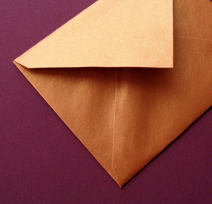 shiny copper envelopes / 25 pieces / small enclosure size