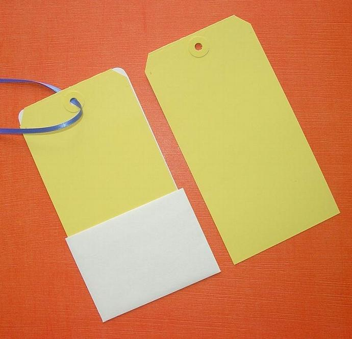 40 yellow large shipping tags