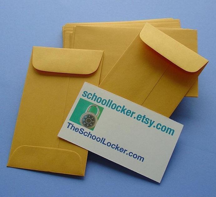 48 little kraft envelopes  / large set