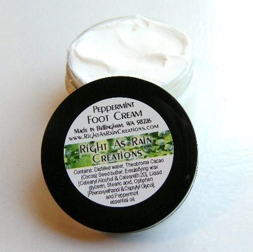Peppermint Foot Cream - Soothing and Cooling, 4 oz