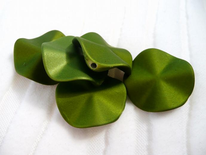Olive Acrylic Beads