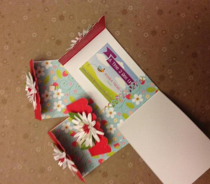 Strawberry & Daisy Gift Card/biz Card holders, set of 4