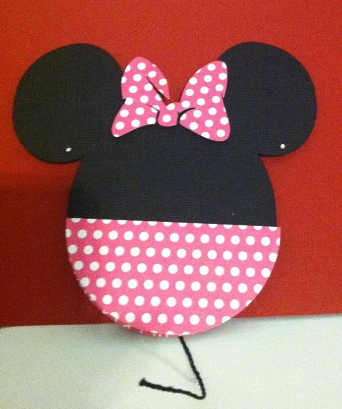 Minnie Inspired Invite in Pink Polka Dot