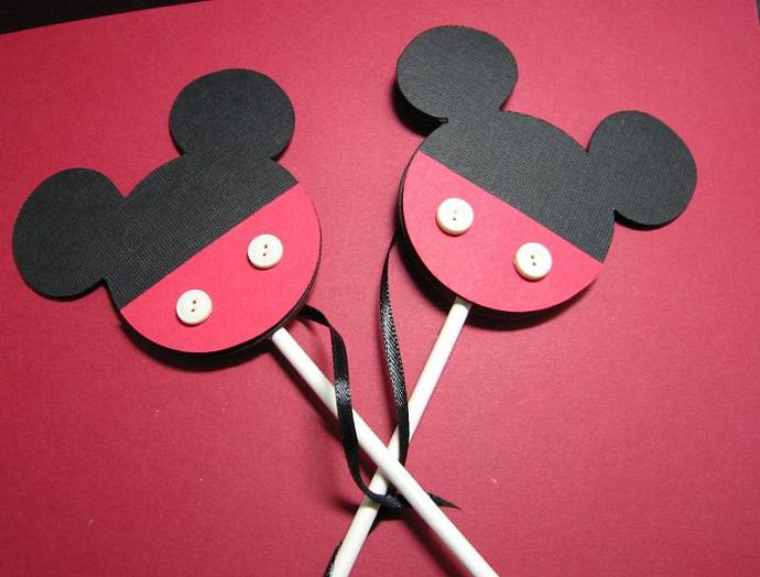 Mickey Mouse Cup Cake Toppers, set of 12