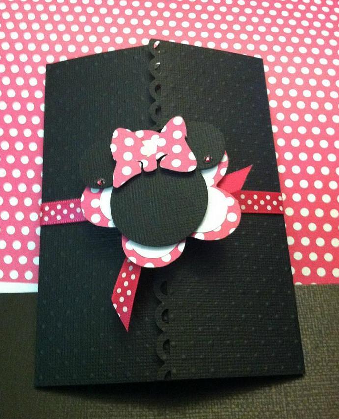 Minnie Tri Fold Invite