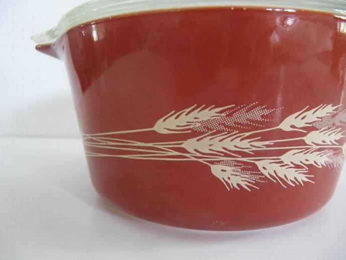 Small Pyrex Autumn Wheat Casserole