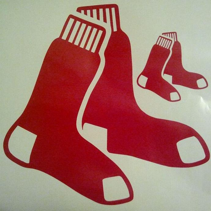 New Boston Redsox Baseball Cornhole Decals - Ready To Apply 5 Year Outdoor Vinyl