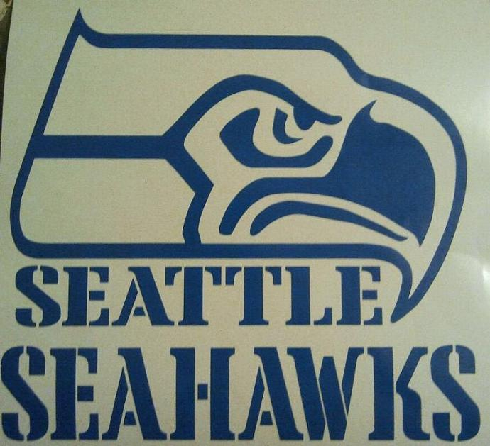 New Seattle Seahawks Football Cornhole Decals - Ready To Apply 5 Year Outdoor