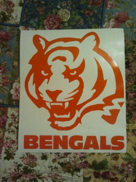 New NFL Cincinatti Bengals Cornhole Decals - Ready To Apply 5 Year Outdoor Vinyl