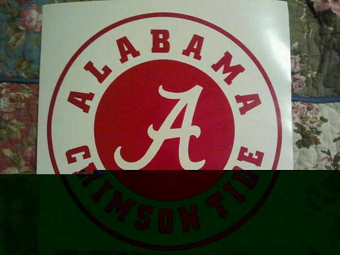 NCAA Alabama Crimson Tide Cornhole Decals - Ready To Apply 5 Year Outdoor Vinyl