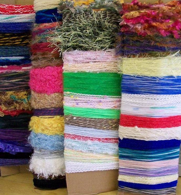 56 Fancy Yarns 2 yards each SCRAPBOOKING Cardmaking-120Y