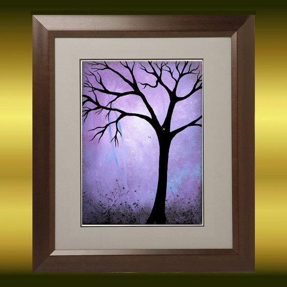 Dark Fantasy Tree Art  Print - Breaking Dawn