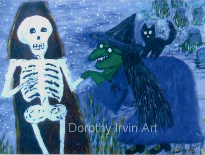 The Romantic Tale of Zora the Witch Plate 2 of 5 Signed ACEO Art Print
