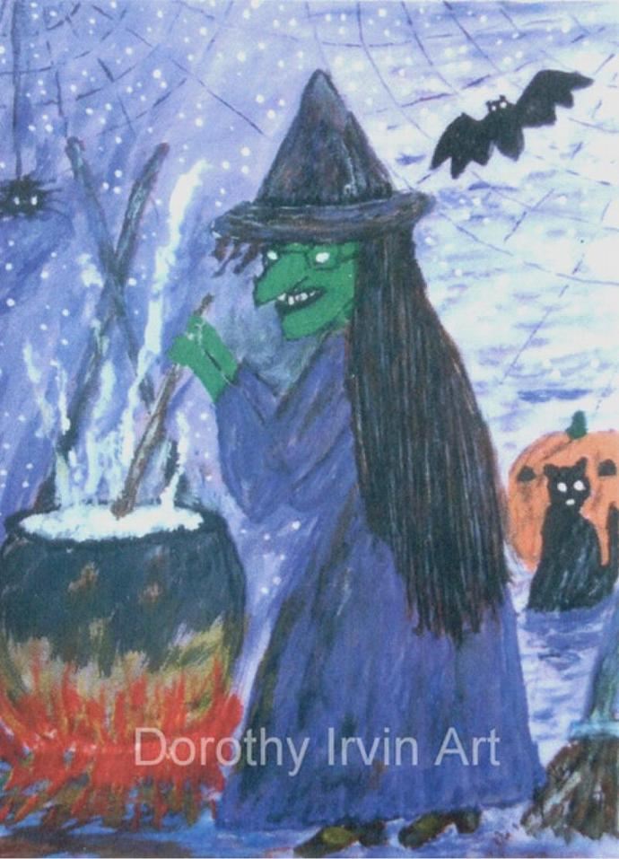 The Romantic Tale of Zora the Witch Plate 4 of 5 Signed ACEO Art Print
