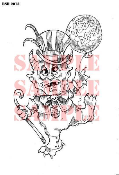 FWORKI the little monsterDigi Stamp  2013