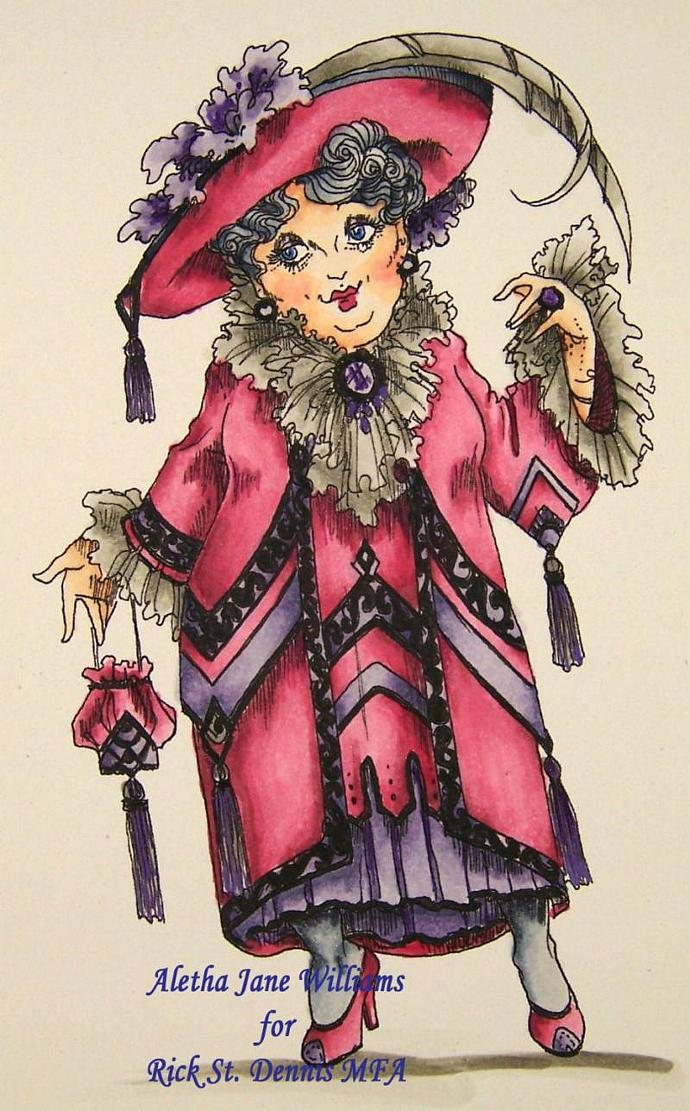 Lady Felicity Highrumple Lunching at the Savoy digi stamp