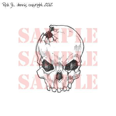 Boneyard Skulls SET digital stamps