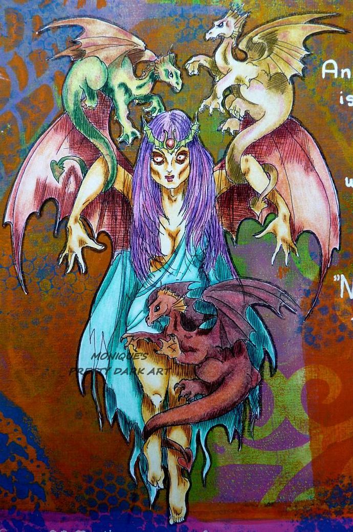GOT Borne Aloft MOther of Dragons digital stamp