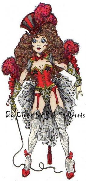 Ring Mistress - Circus Showgirl Digi Stamp