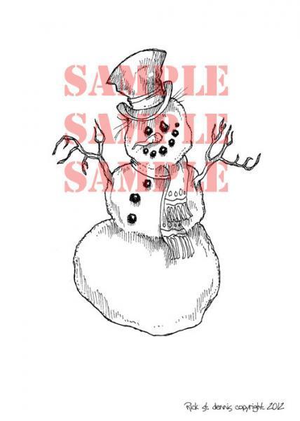 Frosty digi stamp