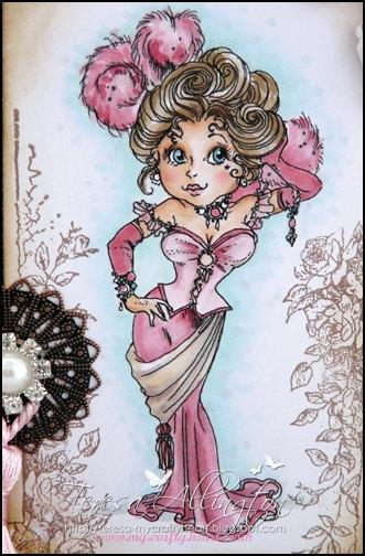 MAE the come up and see me girl digi stamp