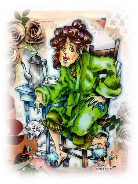 Morning Goddess BETTY digi stamp