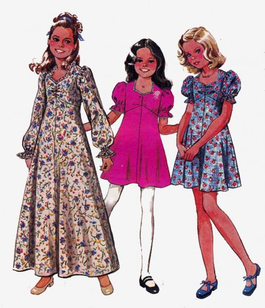 Boho Maxi Dress Pattern Girls Boho or Maxi Dress 1970s