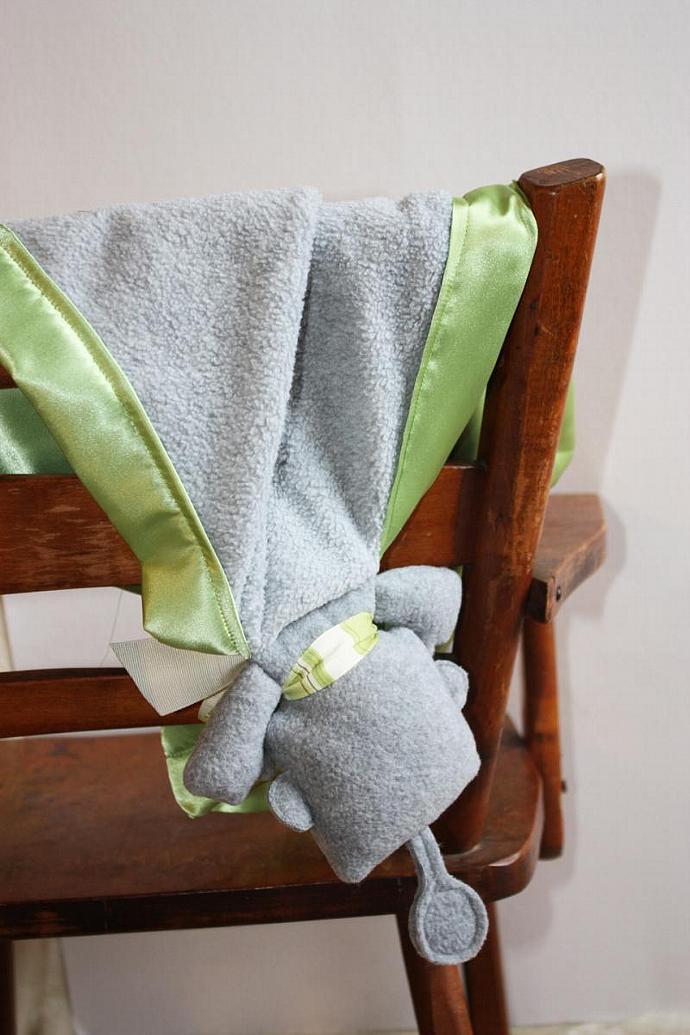 Robot Security Blanket, Lovey Blanket, Satin, Baby Blanket, Stuffed Animal, Baby