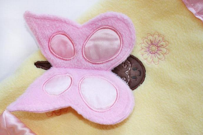 Butterfly Security Blanket, Lovey Blanket, Satin, Baby Blanket, Stuffed Animal,