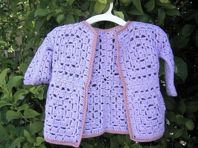Granny Square Baby Sweater Pattern