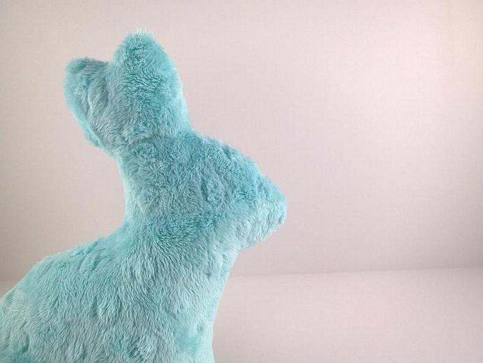 Bunny Softie Minky Plush Baby Toy Aqua Teal Blue