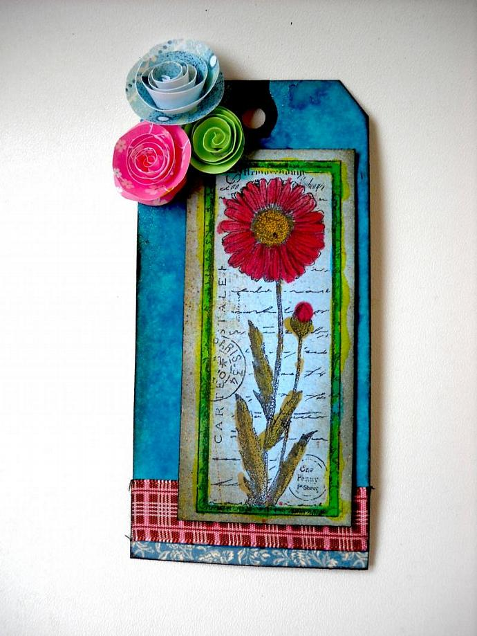 Four Flowers Tag