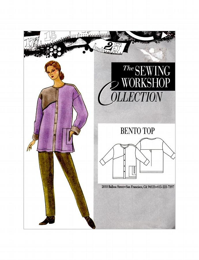 Bento Top Shirt Coat by The Sewing Workshop Collection Sewing Pattern (NEW
