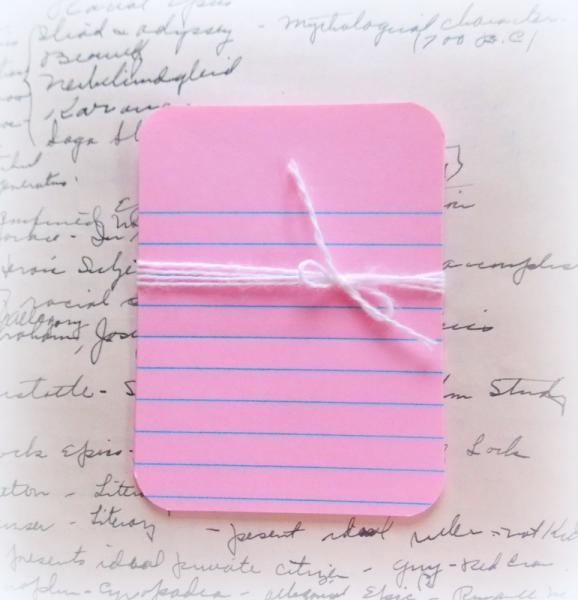Pink Lined Journal Paper Card Tags - PROJECT LIFE