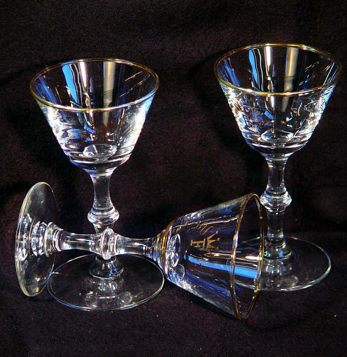 Monogramed Cordials Set Of Three 1960sThe Royal F