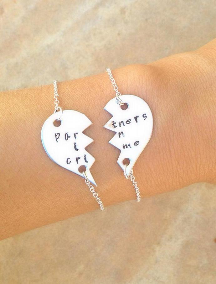partners in crime, partners in crime bracelet, bridesmaid jewelry, bridesmaid