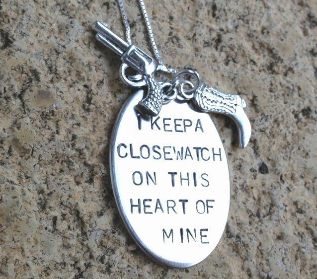 Johnny Cash Necklace, I keep a close watch on this heart of mine, johnny cash,