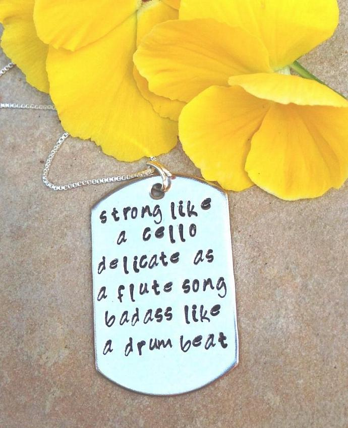 Badass Christmas Gifts Part - 35: Inspirational Necklace, Cancer Necklace, Inspiration Christmas Gifts,badass  Like