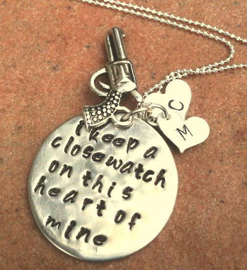 Johnny Cash Jewelry, Johnny Cash Necklace, I Keep A Close Watch,Personalized
