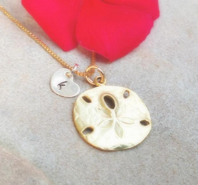 sand dollar necklace, beach necklace, hawaiian jewelry,sterling sand