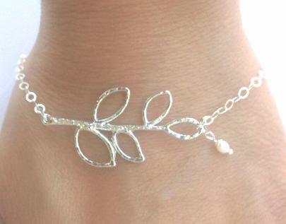 branch bracelet, pearl bracelet, maid of honor bracelets, bridesmaid bracelets,
