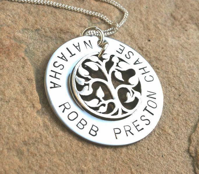 personalized necklace, mom christmas gift, grandma necklace, tree of life, tree