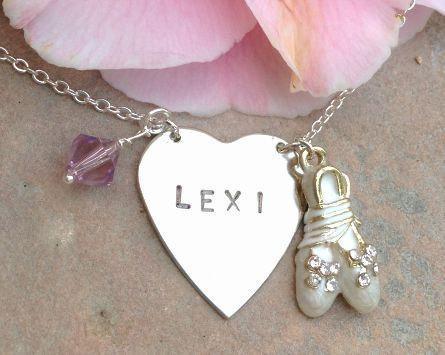 child necklace, ballerina, ballet necklace, christmas gift for child, ballet