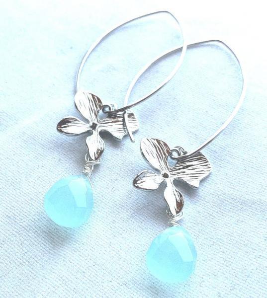 orchid earrings, hawaiian earrings, briolette earrings, wedding earrings, bridal