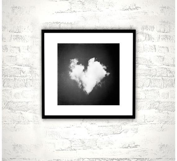 Heart Photography - 8x8 Love Print - Black and White Nursery Wall Art