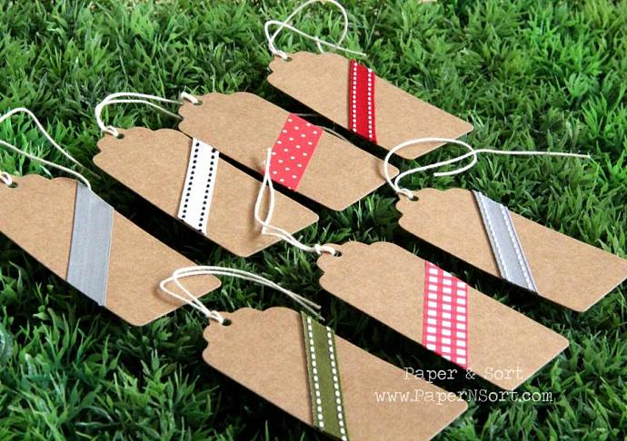50 Blank Escort Card/ Place Card/ Kraft Hang Tag with Scalloped Top - Custom