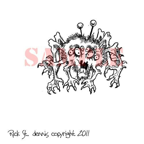 Space Spider digi stamp