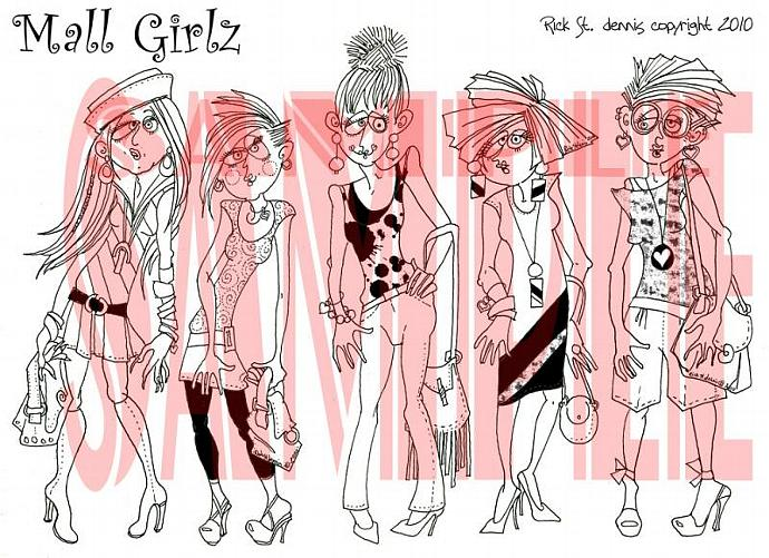 Mall Girls digi sheet